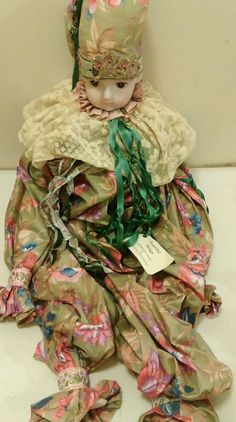 CLOWN DOLL Harlequin, baby  Porcelain Head , Large Bed Doll Beautiful Things | Collectibles, Decorative Collectibles, Figurines | eBay! Large Beds, Clowns, Beautiful Things, Porcelain, Dolls, Baby, Decor, Baby Dolls, Porcelain Ceramics