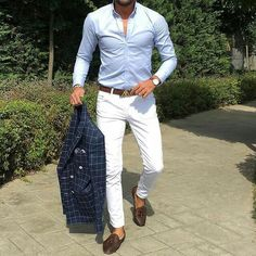 White Pants Outfit, Blazer Outfits Men, Outfit Jeans, Business Casual Men, Business Fashion, Smart Casual, Men Casual, Formal Men Outfit, Style Masculin