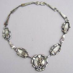 Unique Bohemian Jewelry | Vintage Rhinestone Necklace