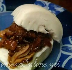 My version of cua pao - Asian style pulled pork sandwich!