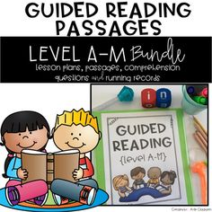 Guided Reading Passages Bundle: Level A-M by Aylin Claahsen Guided Reading Lessons, Guided Reading Levels, Reading Resources, Reading Strategies, Teaching Reading, Learning, Reading Passages, Reading Books, Reading Comprehension