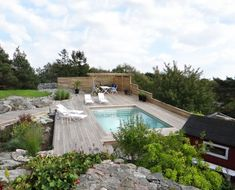 Outdoor Spa, Outdoor Decor, Square Pool, Natural Pond, Swimming Pool Designs, Backyard, Holiday, Nature, Plank
