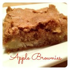 Apple Brownies and Too Much Dessert