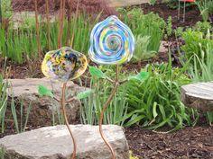 Glass Garden Flowers by Dave Porter Fireworks Glass Studios