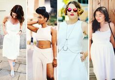 All white: 32 looks monocromáticos brancos para você investir neste verão
