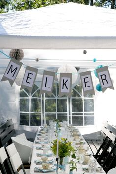 Bildresultat för dop dukning Diy Inspiration, Baby Christening, Childrens Party, Diy Party, Holidays And Events, Signs, Diy And Crafts, Table Settings, Birthday Parties