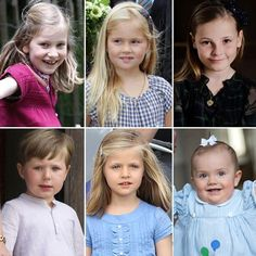 The future monarchs of Europe? Princess Elisabeth of Belgium, Princess Amalia of the Netherlands, Princess Ingrid of Norway, Prince Christian of Denmark, Princess Leonor of Spain and Princess Estelle of Sweden.