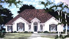 Eplans New American House Plan - Regal Appearance - 2387 Square Feet and 3 Bedrooms from Eplans - House Plan Code HWEPL10649
