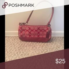 Coach mini handbag This mini bag is comparable to the size of a wristlet Coach Bags Mini Bags