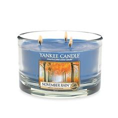 Yankee Candle 17 oz NOVEMBER RAIN 3-Wick Housewarmer Dish Candle * Want additional info? Click on the image.