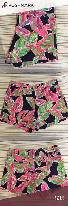 Lilly Pulitzer, Funky Callahan Shorts Adorable, vibrant floral shorts by Lilly Pulitzer. They are lightly used and in superb condition. Perfect for summer ☀️ Adds a perfect pop of color to any wardrobe. Make me an offer :) Lilly Pulitzer Shorts