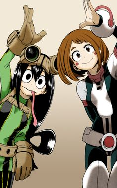 Uraraka Ochako and Tsuyu Asui. So far these two are my favorite characters.