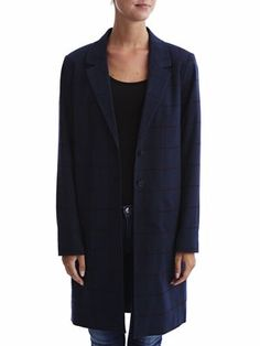 PERCILLA - LONG - CHECKED COAT