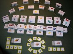 50 Lesedosen mit Buchstabenkärtchen