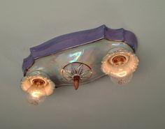 1930's Antique Ceiling Light German Porcelain by Somethingcharming