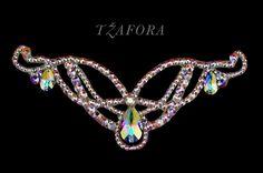 Ballroom accessories and ballroom jewelry made with Swarovski, available at www.tzafora.com © 2014 Tzafora