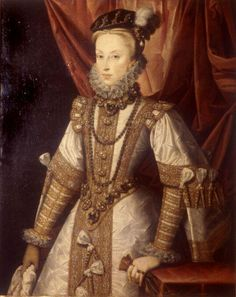 Sanchez Coello, Alonso (1531-1588)  Anne of Austria (Anna of Austria (1 November 1549 – 26 October 1580) was Queen of Spain by virtue of her marriage to her uncle, King Philip II of Spain)  Date: ca. 1570  Movement: Renaissance (Late, Mannerism)