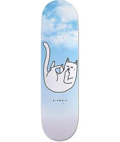 Add some fun to your complete with a Lord Nermal double middle finger graphic on a blue sky deck with slight concave for crisp pop.