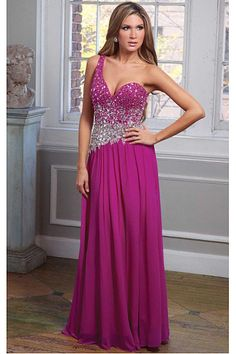 Wonderful A-line Chiffon One Shoulder Natural Prom