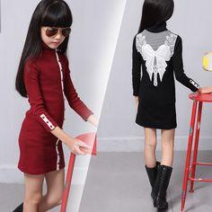 $21.27 (Buy here: https://alitems.com/g/1e8d114494ebda23ff8b16525dc3e8/?i=5&ulp=https%3A%2F%2Fwww.aliexpress.com%2Fitem%2FSpring-Autumn-Winter-All-match-Girls-Stripe-Shirt-Collar-Buckle-Hot-Super-Elastic-Backing-Dress-Clothing%2F32735346549.html ) Spring Autumn Winter All-match Girls Stripe Shirt Collar Buckle Hot Super Elastic Backing Dress Clothing Black Red Lace for just $21.27