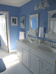Victorian Blue Bath - Bathroom Designs - Decorating Ideas - HGTV Rate My Space