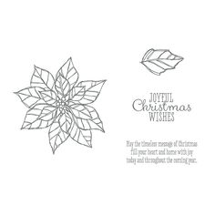 Stampin' Up! Joyful Christmas stamp set. Order Online: essentials.stampinup.net #christmas #poinsettia