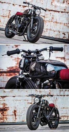 Honda Brat - Umbau von K-Speed Cafe Racer Honda, Cg 125 Cafe Racer, Cafe Racer Bikes, Cafe Bike, Brat Bike, Motorcycle Helmet Design, Scrambler Motorcycle, Custom Bobber, Custom Bikes