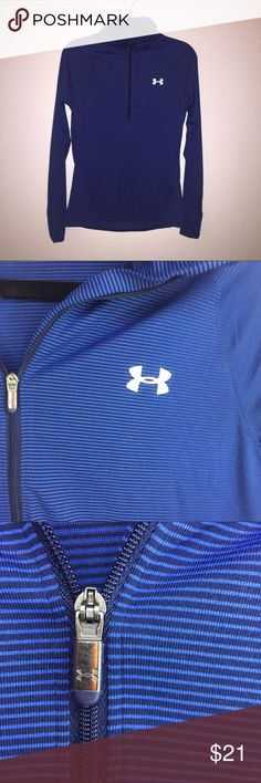 Under Armor Half Zip Long Sleeve Under Armor Half Zip Long Sleeve. Like new. All season gear. I would say it's a tight medium and would consider it more of a small. Under Armour Shirts Tees - Long Sleeve
