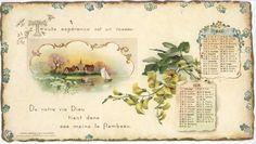 DIEU SOIT AVEC VOUS CALENDRIER POUR 1899