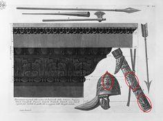 Pe armele şi echipamentul militar al dacilor, pomul vieţii era reprezentat, conform credinţei în nemurire, pentru a asigura regenerarea trupului luptătorului, în cazul în care ar fi căzut în luptă, aşa cum se poate observa din desenele întocmite după Columna lui Traian de cunoscutul artist italian Giovanni Battista Piranesi la sfârşitul secolului al XVIII-lea, sau chiar din metopele originale.
