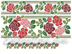 roses cross stitch - Pesquisa Google