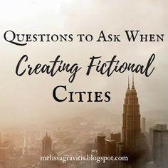 Quill Pen Writer: Questions to Ask When Creating Fictional Cities // read later Creative Writing Tips, Book Writing Tips, Writing Process, Writing Resources, Writing Help, Writing Skills, Writing Workshop, Tv Writing, Writing Guide