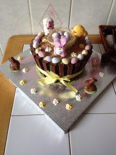 Yay I won the bake off for Easter cake