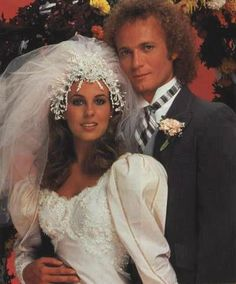 Luke and Laura from General Hospital, One of the most watched TV Weddings Luke And Laura, Vintage Wedding Photos, Vintage Weddings, Royal Weddings, Vintage Bridal, Vintage Rhinestone, Vintage Pictures, Wedding Movies, Famous Couples