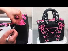 Cake decorating for beginners. Purse cake video tutorial.