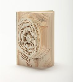 Flowers for Algernon by Daniel Keyes, carved book art