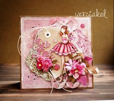 We LOVE it when you share your Prima creations with us on our social media! Isn't this absolutely breathtaking? by Weronika! Prima Paper Dolls, Prima Doll Stamps, Paper Cards, Diy Cards, Julie Nutting, Book And Frame, Caran D'ache, Paper Dolls Printable, Prima Marketing