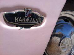 pink VW Karmann Ghia classic #classiccars #antiqueauto #route66 #seligman