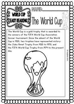 WORLD CUP 2014 - READY TO PRINT READINGS AND PRINTABLES (FREEBIE) - TeachersPayTeachers.com