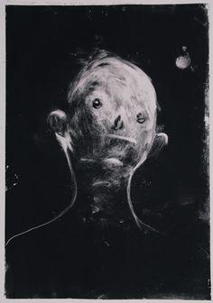 Nicole Coson : work from Spirit Captures series, ink on paper, 53 x 73 cm Arte Horror, Horror Art, Elephant Man, Bd Art, Creepy Images, Creepy Art, Gravure, Surreal Art, Art Sketchbook