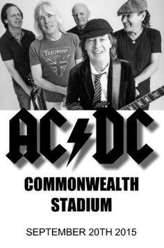 AC/DC in Commonwealth Stadium, September, 2015.
