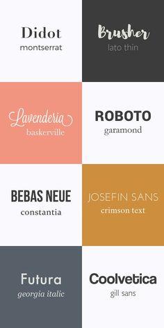 combinaison typographie