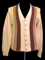 60's vertical stripe cardigan
