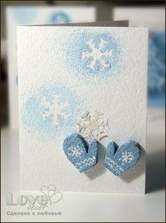 Новогодние открытки... снежинки нежные