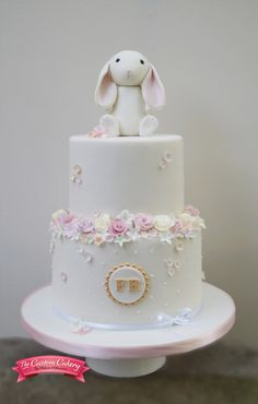 Pretty Rabbit Christening Cake