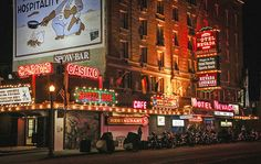 The bright lights of Hotel Nevada shine in Ely, once a mining centre