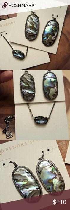 Selling this Kendra Scott SET Elle earrings Elisa Necklace NWT on Poshmark! My username is: thepinupmom. #shopmycloset #poshmark #fashion #shopping #style #forsale #Kendra Scott #Jewelry