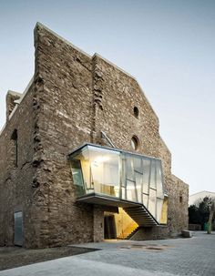 auditorium in the church of saint francis' Convent by david closes #catalonia #spain #architecture