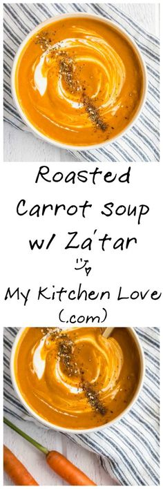 Roasted Carrot Soup with Za'tar