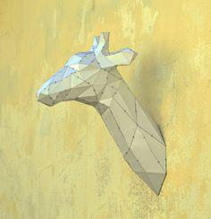 Make Your Own Giraffe Sculpture.  Papercraft by PlainPapyrus